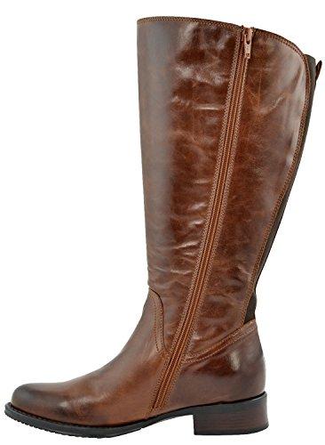 JJ Footwear Women's Sydney XXL 46.4cm–54,1cm Calf Leather Boot Marron - Marron