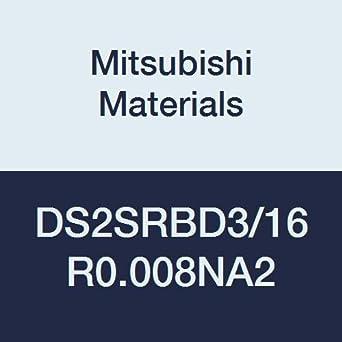 0.008 Corner Radius 2.0 L Neck Relief Radius Shape Roughing 0.1875 Cut Dia 2 Short Flute Mitsubishi Materials DS2SRBD3//16R0.008NA2 DS2SRB/…NA Series Carbide Diamond Star End Mill