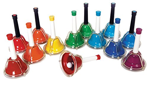 Rhythm Band 13-Note Hand/Desk Bell Set (RB107C - 5 count + RB107 - 8 count)