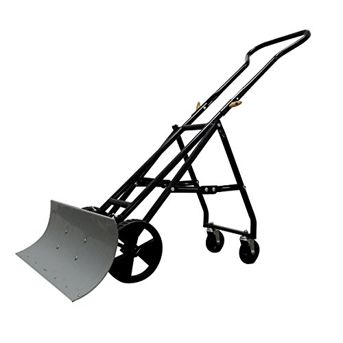 EasyGo Folding Four Wheeled Snow Plow - Foldable 4 Wheel Snow Pusher and Thrower - Ergonomic - Prevents Back Pain (Roof Rake Commercial compare prices)
