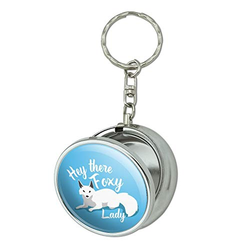 - GRAPHICS & MORE Hey There Foxy Lady White Fox Portable Travel Size Pocket Purse Ashtray Keychain with Cigarette Holder