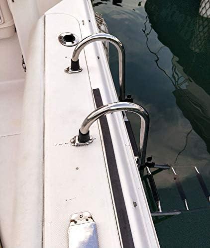 Escalera Telescópica Escalera de Barco Pontón de 5 Escalones Escalera de Embarque de Muelle de Entrada Trasera Plegable con Paso Extra Ancho, Escaleras Extensibles Tarea Pesada: Amazon.es: Hogar