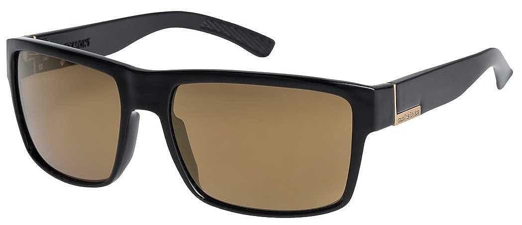 00255913409aa Quiksilver - Mens Ridgemont Sunglasses, O S, Black Flash Gold   Amazon.co.uk  Sports   Outdoors