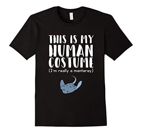 Black Manta Costume (Mens This Is My Human Costume I'm Really A Manta Ray T-Shirt Medium Black)
