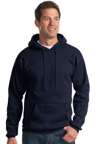 Port & Company - Core Fleece Pullover Hooded Sweatshirt. PC78H Navy XL
