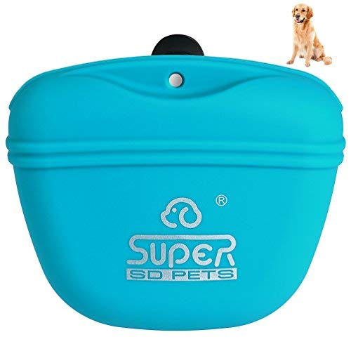 Cheap Petacc Pet Training Bag Silicone Dog Training Pouch Portable Pet Treat Pouches with Clip and Magnetic Closing