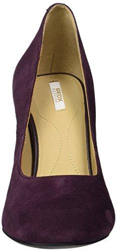 Geox D Audalies High A, Scarpe con Tacco Donna Viola (Prune)