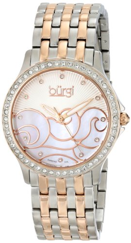 Burgi Women's BUR081TT Analog Display Swiss Quartz Two Tone Watch
