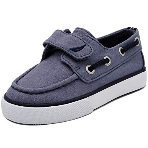 Nautica Kids Little River Boat Shoe -Sneaker - Casual Adjustable Straps-Blue Canvas-8 ()