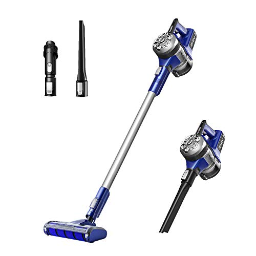 Eureka NEC122 PowerPlush Cordless Vacuum Cleaner, Handheld Vacuum, Hard Floor Stick Vacuum Cleaner, Blue