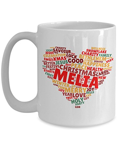 MELIA Christmas mugs gifts cute- 16oz Ceramic Original Design on Christmas color tone for men,women,him,her,boy,girl,boyfriend,girlfriend,wife,husband - Melia Ceramic