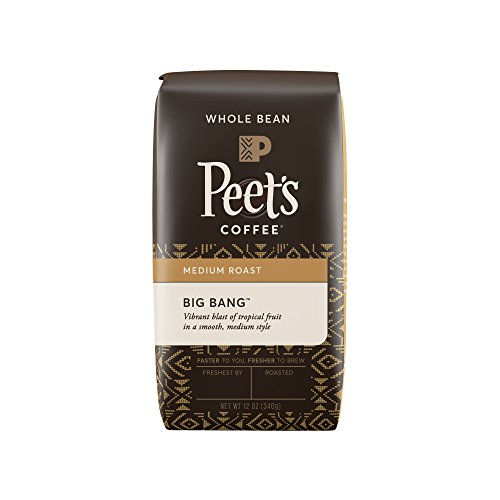 Peet's Coffee Big Bang Whole Bean Intermediation Roast Bag, 12 Ounce