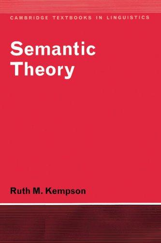 (Semantic Theory (Cambridge Textbooks in Linguistics))