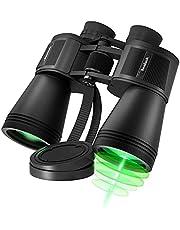 10X50 Binoculars for Bird Watching, HD Professional/Waterproof Binoculars for Adults, Large Eyepiece, Low Light Night Vision, Compact Binocular for Hiking, Hunting, Travel, Sightseeing, Opera