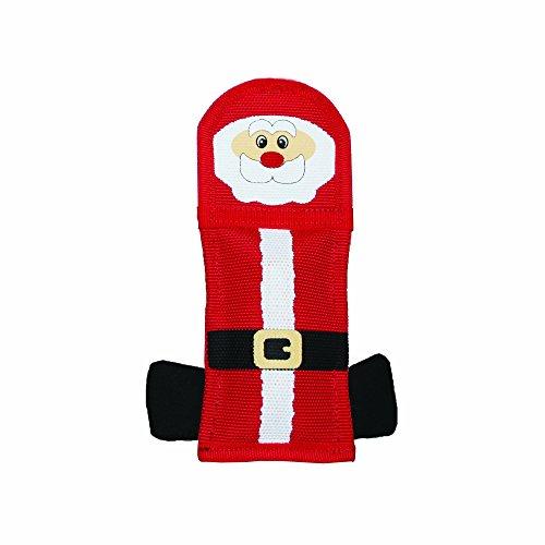 Outward Hound Kyjen  30049 Fire Biterz Squeaking Durable Santa Christmas Dog Toy, ()