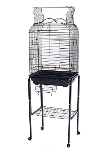 PetcageMart Parakeet Cockatiel Playtop Metal Bird Cage with Stand, 18