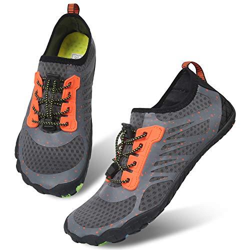 Centipede Demon Water Shoes Mens Swim Shoes Quick-Dry Aqua Socks Pool Shoes for Surf Yoga Orange Women 10.5 M/Men 8 M