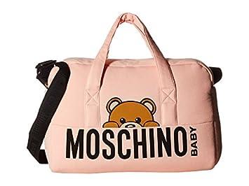 599aae958bf Amazon.com : Moschino Kids Unisex Teddy Bear Logo Diaper Bag w/ Mat Rose  Bloom Diaper Bag : Baby