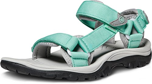 AT-W111-EGN_Women 6 B(M) Atika Women's Maya Trail Outdoor Water Shoes Sport Sandals W111