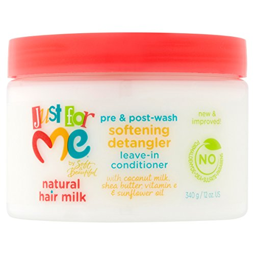 Just For Me Softening Detangler Leave In Conditioner, 12 Ounce