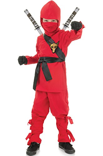 16 Costumes (Underwraps Costumes Big Boy's Children's Red Ninja Costume, X-large 14-16 Childrens Costume, red, X-Large)