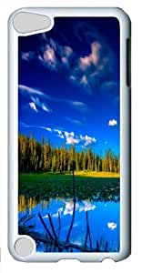 Blue Landscape Custom Apple iPod 5/iPod Touch 5 Case Cover Polycarbonate White