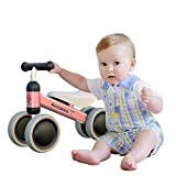 Ancaixin Baby Balance Bikes Bicycle Children Walker 10 Month -24 Months Toys for 1 Year Old No Pedal Infant 4 Wheels Toddler First Birthday New Year Gift (Renewed)