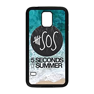 Pop band 5 seconds of summer 5 sos blue sea sandy beach TPU case for Samsung galaxy S5