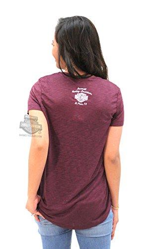 Harley-Davidson Womens Rainbow Road B&S Drapey Slub Purple Short Sleeve T-Shirt - LG