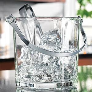 Home Essentials & Beyond 8966 30 oz. Tablesetter Paneled Ice Bucket with Tongs by Home Essentials & Beyond