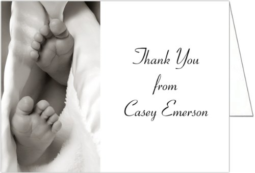 Baby Toes Baby Thank You Cards - Set of 20