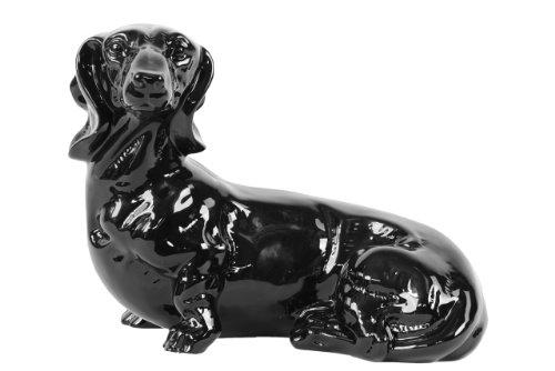 Dog Dachshund Black Figurine - 5