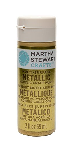 Martha Stewart Crafts Multi-Surface Metallic Acrylic Craft Paint in Assorted Colors (2-Ounce), 32105 Yellow Gold ()