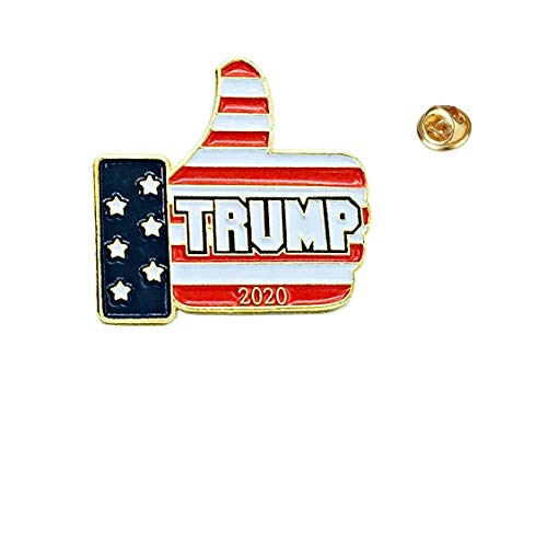 UNiQ Designs Donald Trump Man Lapel Pin-Perfect American Flag Lapel Pin-USA Pin American Flag Pin for Suit-Donald Trump Pins and Buttons 2020-Maga Lapel Pin-Trump 2020 Pin-Keep America Great MAGA Pin