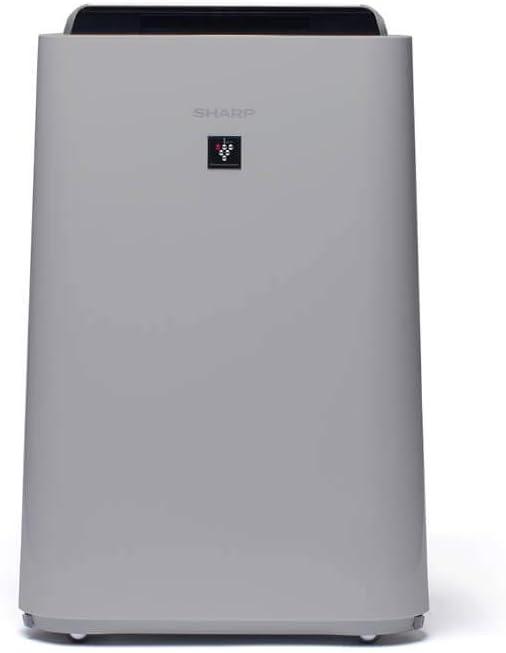Sharp UA-HD40E-L Purificador de aire con tecnología Plasmacluster-Ion, función humificador, tres niveles de filtro: prefiltro, olores y HEPA, sensor de polvo, humedad y temperatura, hasta 26 m2