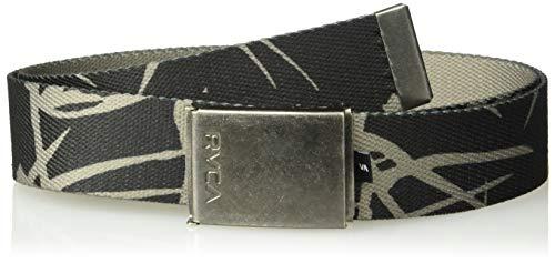 RVCA Men's Block Print Web Belt, Pirate Black, One Size