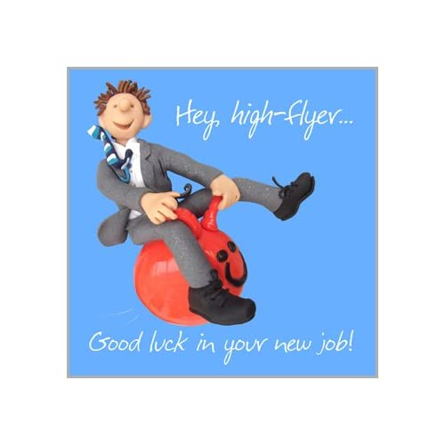 Good luck in your new job card amazon holy mackerel greeting card good luck in your new job for good luck m4hsunfo