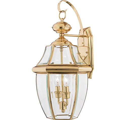 Lifetime Polished Brass Outdoor Lights