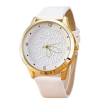 HTRHHG Relojes Mujeres Simple Fashion Women Leather Unique diseño Reloj de Pulsera de Cuarzo, ...