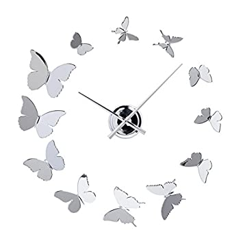 Amazoncom Torre Tagus 902083 Butterfly DIY Wall Clock Home
