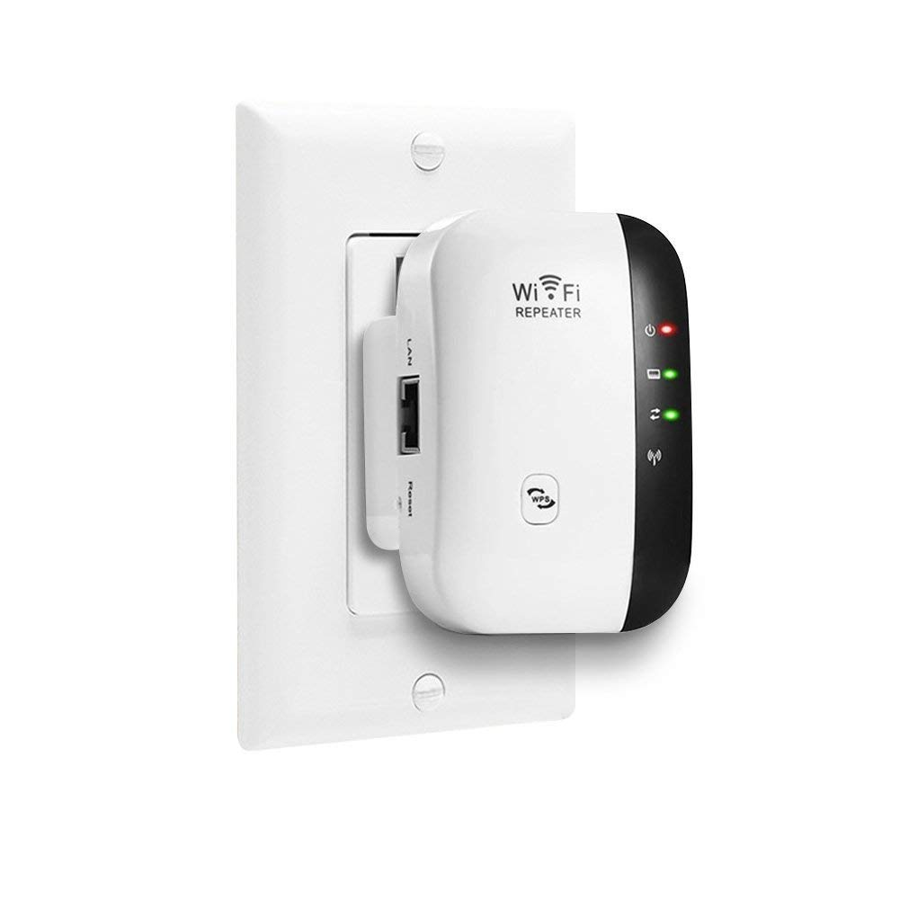 300 Mbps WiFi Extender Wireless-N Repeater WiFi Booster Network Adapter Enhance Signal Strength Access Point Full Signal Coverage Repeater/AP Modes Comply 802.11 b/g/n with WPS(US Plug by AWINLI