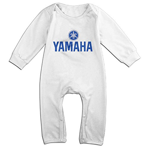Price comparison product image HOT TOPICS Baby Yamaha Logo Long Sleeve Babysuit Rompers Jumpsuit White