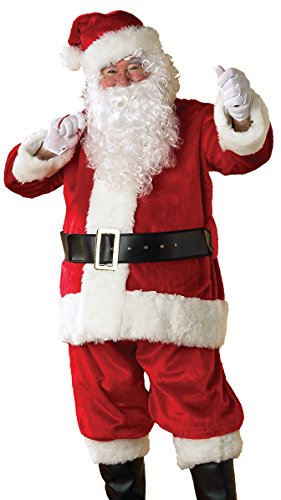 Rubie's Plush Regency Crimson Santa Suit, Red/White, Standard by Rubie's