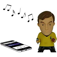 Star Trek: Captain Kirk 6 Tall Vinyl Talking Bluetooth Speaker with Quotes, Sound Effects and Microphone