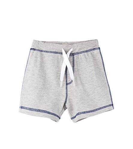 Hatley Baby Boys Mini Pull-On Shorts, Gray MARL, 9-12 Months (Cord Pant Ruffle)