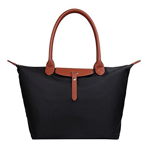 GISTE Women Fashion Nylon Travel with Waterproof Beach Shoulder Tote Bag ()