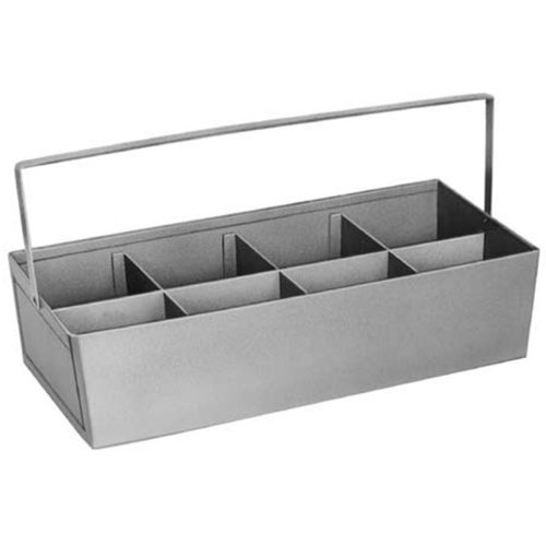 Pasco 3088 Fitting Tote Tray with 8 Dividers, 1, SS