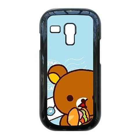 Samsung Galaxy S3 Mini i8190 Case,Lovely Rilakkuma Pattern Durable Hard Plastic Scratch-Proof Protective Case,Black (Rilakkuma Phone Case Galaxy S3)