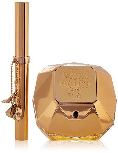 Paco Rabanne Lady Million 2 Piece Set (2.7 Ounce Eau De Parfum Spray + 20ml Travel Spray) (Piece Perfume 2)