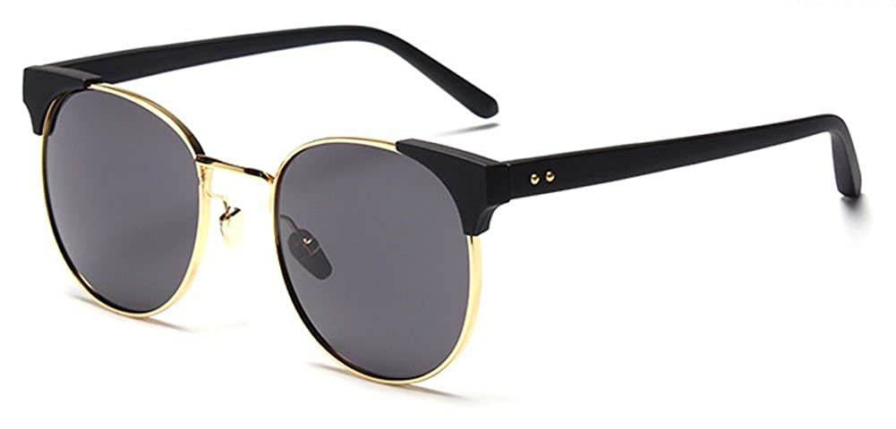 Amazon.com: YL Modern Retro round sunglasses UV protection ...